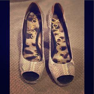 Sam Edelman Tacoma Leather Peep Toe Heels